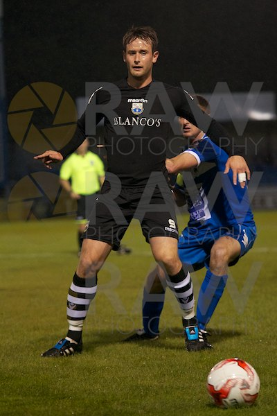 Goal scorer Martin Rose in the Welsh Premier League match on Tuesday 22nd September 2015 -Haverfordwest County v Port Talbot Town © Matthew Kelly www.rawphotography.me.uk
