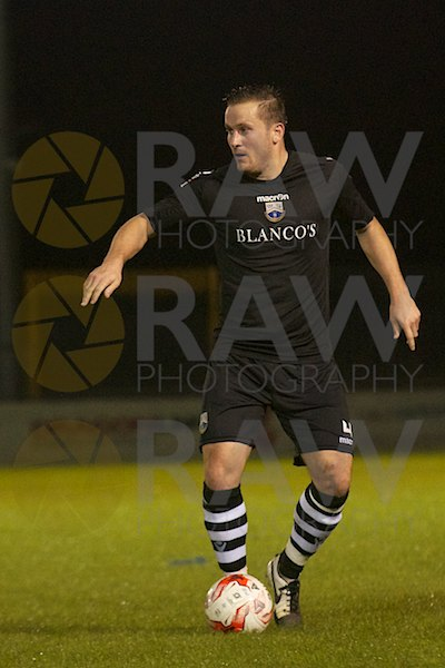Goal scorer Paul Fowler in the Welsh Premier League match on Tuesday 22nd September 2015 -Haverfordwest County v Port Talbot Town © Matthew Kelly www.rawphotography.me.uk