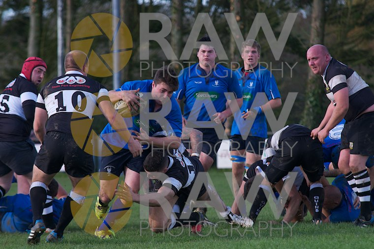 Dan John en route to scoring his try. Haverfordwest RFC v Pembroke Dock Quins RFC © Matthew Kelly www.rawphotography.me.uk